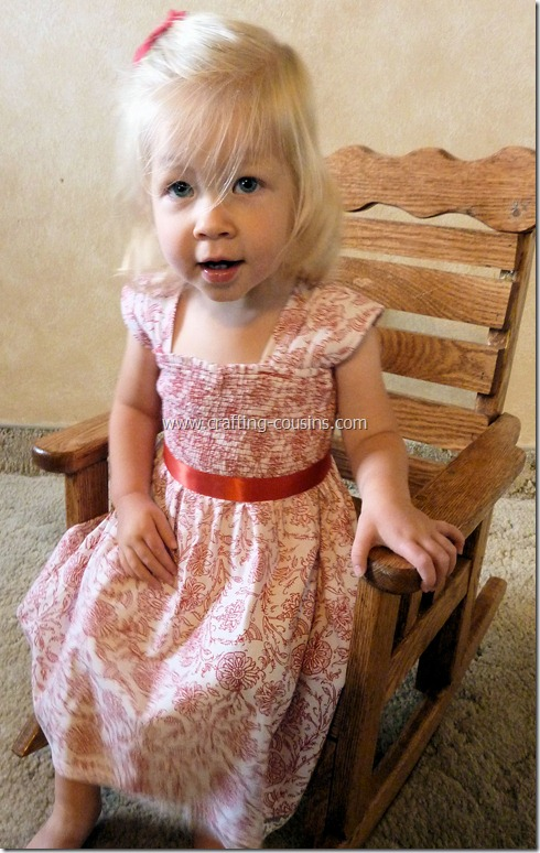 Shirred infant flower girl dress from the Crafty Cousins (45)