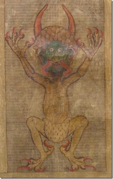 Ilustracion-que-representa-al-Diablo-que-aparece-en-el-Codex-Gigas-Wikimedia-Commons