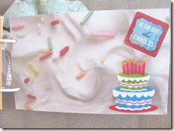 Cape Kellys birthday book blow out the candles frosting page