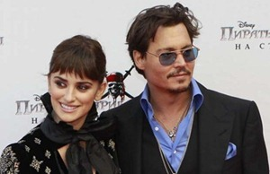 Johnny Depp and Penlope Cruz