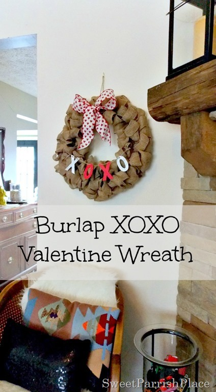 Burlap XOXO wreath5