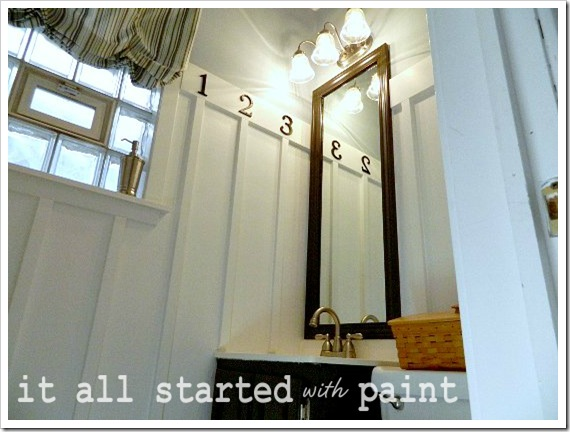 Powder Room Makeover after mirror