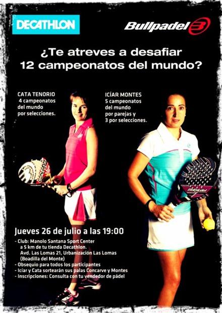 ¿Te atreves a desafiar 12 campeonatos del mundo? Gracias a Decathlon y al club Manolo Santana Sport Center, 26 julio 2012.