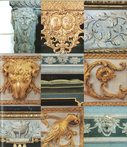 There are many interesting flourishes on Roehm's furniture–animals, faces, masks, castles.