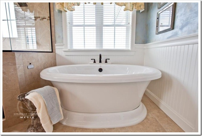 Master Bathroom -Decorating a Dream Home - www.sandandsisal.com