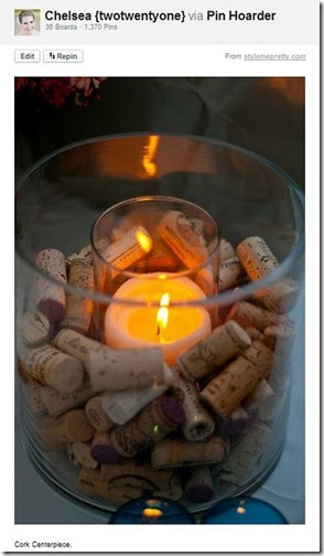 wine cork centerpiece
