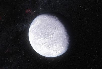 ilustração do planeta anão Éris