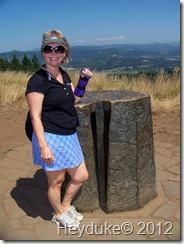Sharon atop Mt Pisgah