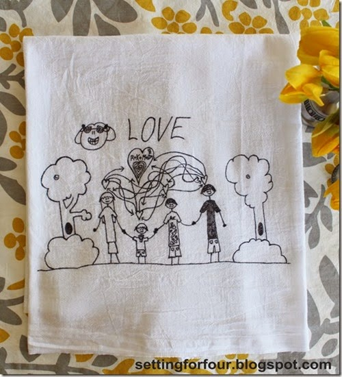 DIY Kids Art Tea Towel tutorial