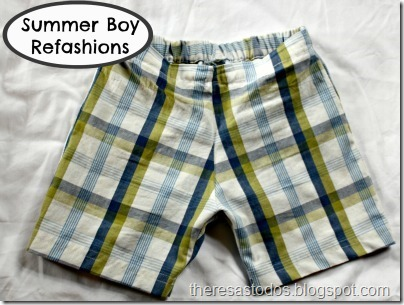 Men's Shirt to Boy's Shorts Refashion