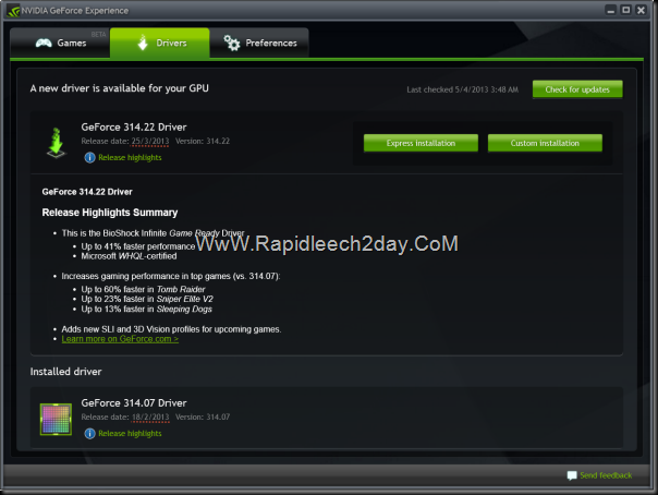 Managing GeForce Driver Updates