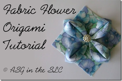Fabric Flower Origami Tutorial ASGinthe SLC