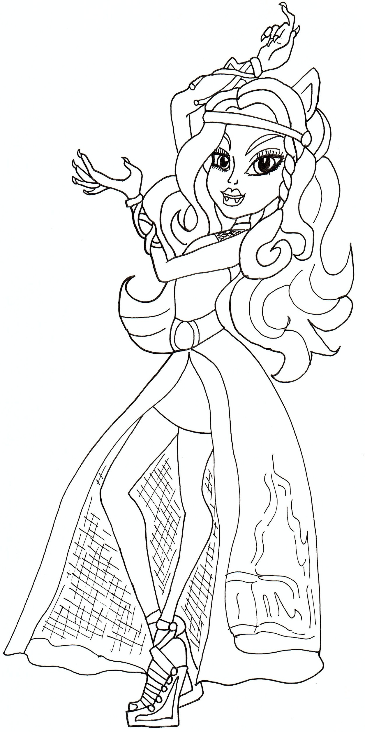 Monster High Coloring Pages 13 Wishes Draculaura