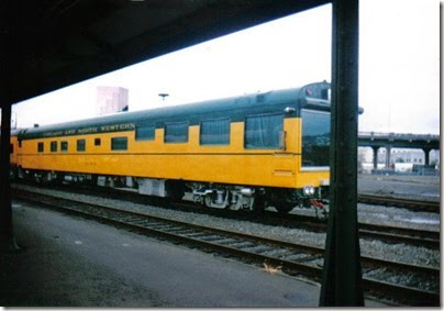 005-1 C&NW Inspection Car #420 Fox River at Portland Union Station in September 1995
