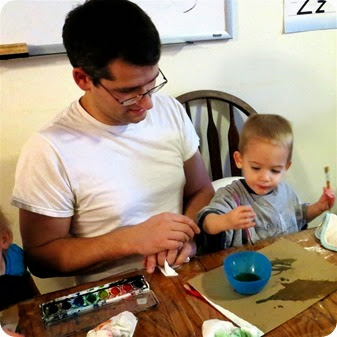 Painting with Daddy