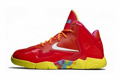 nike lebron 11 gs fruity pebbles 4 03 Kids Nike LeBron XI GS Laser Crimson Collection Available Now