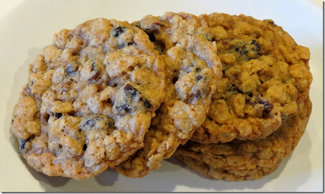 Meyer Lemon Cranberry Oatmeal Cookies 1-28-13