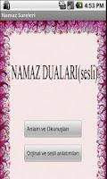 Screenshot of Namaz sureleri (sesli)