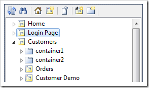 Login Page has been placed after Home in the site menu.