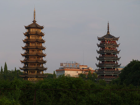 Excursie in China: pagode in Guilin