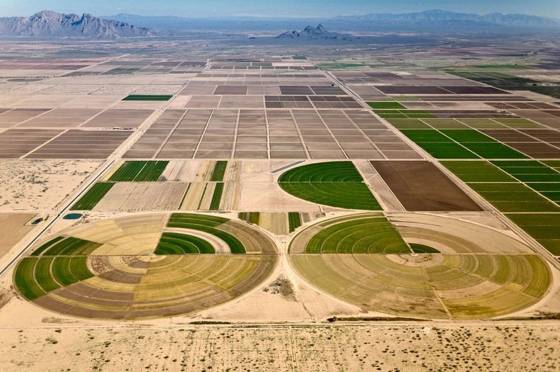 farm lands from above aerial photography by alex maclean