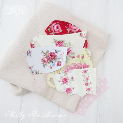 Shabby Art Boutique tea towel 4