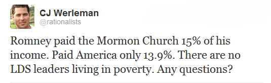 Romney paid Mormons