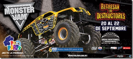 monster jam monterrey proximos eventos