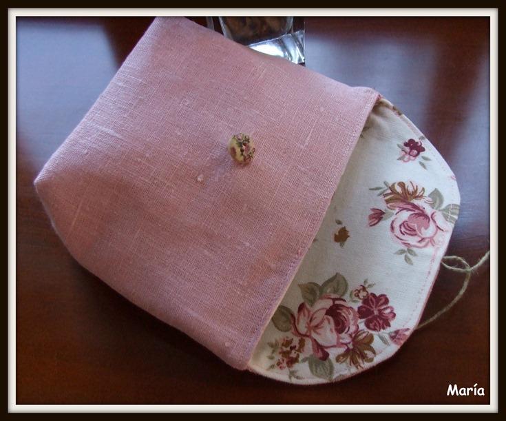 Bolsas de lino rosa-3