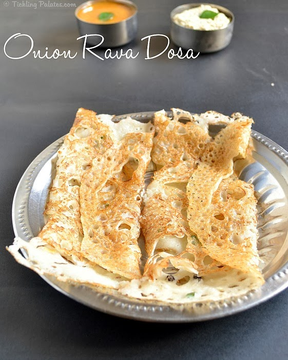 Instant Onion Rava Dosa recipe