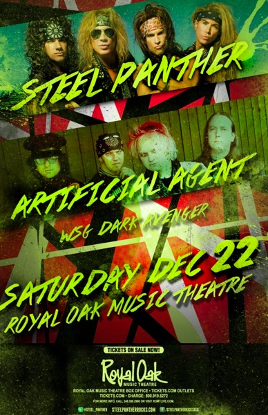 Artificial Agent Steel Panther