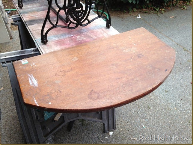 Red Hen Home treadle table 1