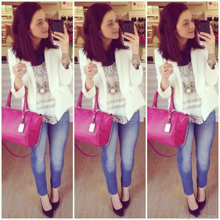 look jeans, blazer e bolsa fúcsia (1)