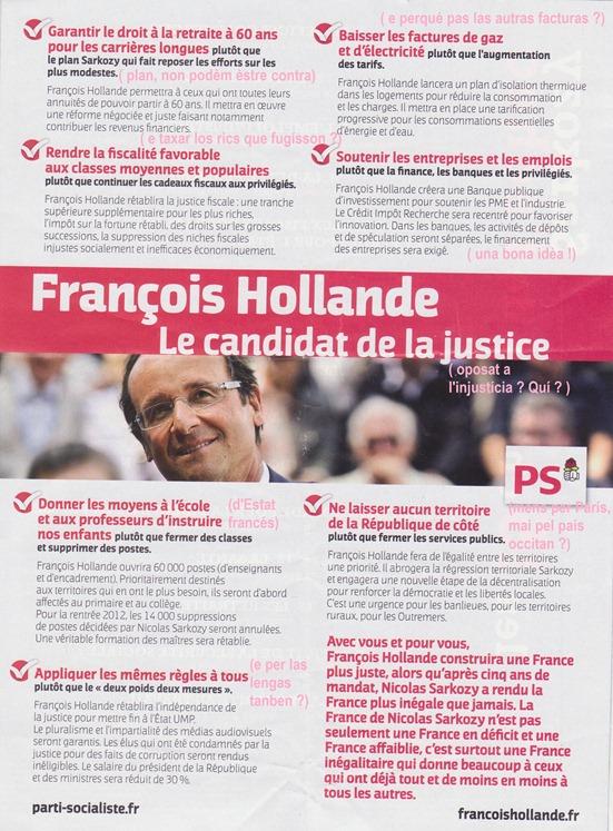 trac de François Hollande