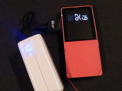 au ガラケーをBTN-DC2Wで充電
