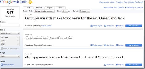 daftar tipe huruf google-Font