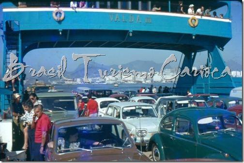 Barcaça Rio-Niterói para veículos - início anos 70