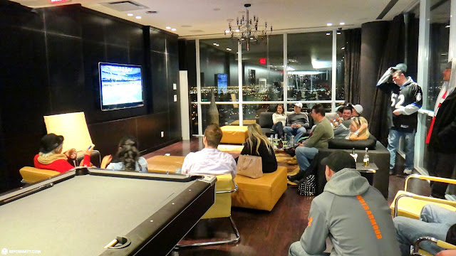 superbowl XLVII at the penthouse in Mississauga, Ontario, Canada
