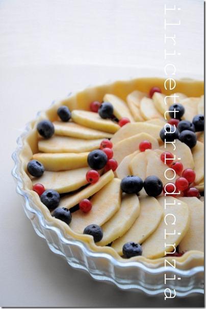 crostata di mele frolla-sfoglia (senza uovo)