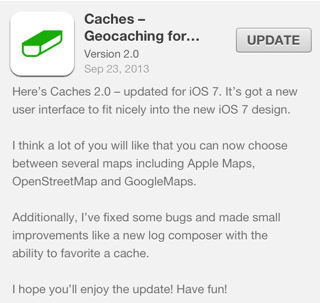 Caches version 2 for iOS