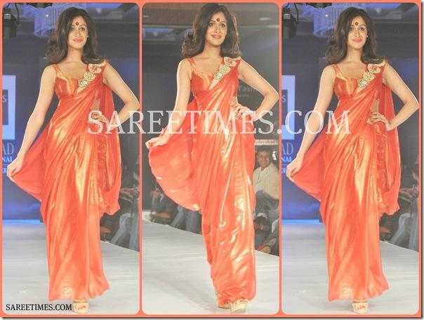 Orange_Designer_Saree
