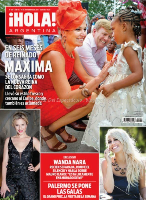 maxima y wanda nara en revista hola argentina
