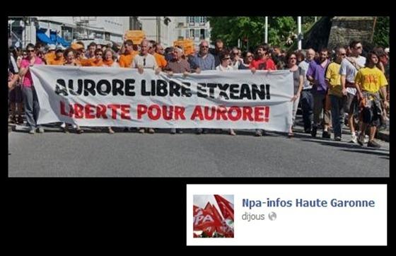 Manifestacion per la libertat d'Aurere Martin