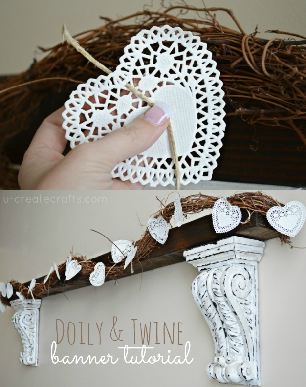 Valentine Doily and Twine Banner Tutorial