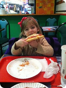 She picked pizza