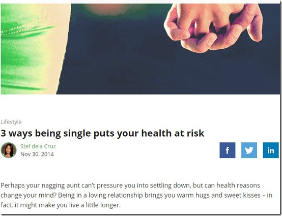 single health risks