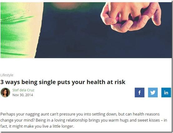 single health risks