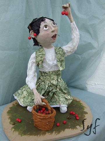 muñeca papel mache 10