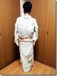 護国神社に着物でお宮参りに (1)