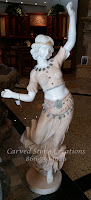 Mixed Marble Belly Dancer Statue